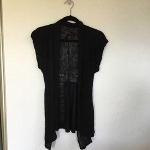 Absolutely Black Rayon short sleeve cardigan